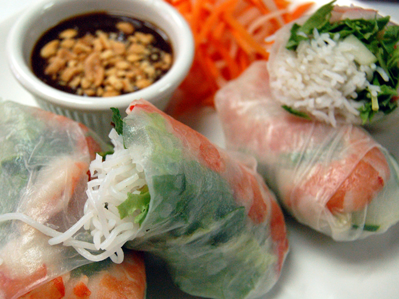 Shrimp And Mint Summer Rolls Recipe — Dishmaps